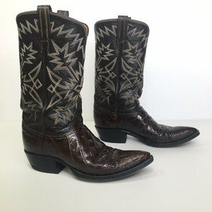 Tony Lama Exotic Caiman Belly And Leather Boots